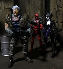 DP: Hey Domino, I think Nathan wants a threesome. He keeps bringing us to the most romantic places. (chevy2who) Tags: inch six legends marvellegends figure action nathan cable domino deadpool toyphotography toy marvel
