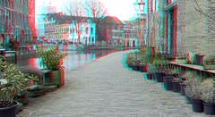 Schiedam 3D (wim hoppenbrouwers) Tags: anaglyph stereo redcyan schiedam 3d canal