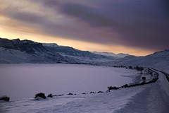 Purple Hour (wyojones) Tags: wyoming wapitivalley buffalobillreservoir buffalobillstatepark cody clouds cloudscape snow sunset absarokamountains yellowstonehighway wyojones np