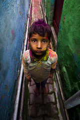 Holi Portrait (Harshal Orawala) Tags: india 121clicks holi holi2018 portrait eyes street narrowstreet colours harshalorawala