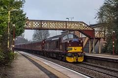 37_518_Oakengates_24_03_18 (chrisbe71) Tags: 1z23 37518 d6776 37076 ee br tractor growler wcrc bls oakengates class37 englishelectric englishelectrictype3 type3 westcoastrailwaycompany thebranchlinesociety chartertrain