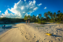 A nice walk along this private beach near Rudder Cut Cay.