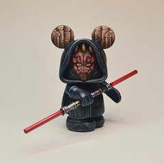 Darth Maul (Jared Circusbear) Tags: disney art disneyland vinylmation custom customtoy vinyltoy designertoy toy popart fanart collectible sculpture painting figure miniature plastic handmade munny dunny kidrobot funko funkopop mickeymouse illustration parks darth maul star wars clone rogue one lucasflim lightsaber