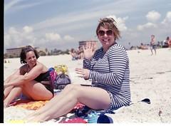 Beach Waves (Gheoph) Tags: nikon f80 film 50mm f14d fuji color 200 c41 press kit home developed