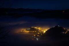 Pennabilli by Night (Strocchi) Tags: pennabilli rimini longexposure nebbia fog night tripod notte canon eos6d 24105mm