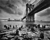 Brooklyn bridge snowstorm (beninfreo) Tags: newyork canon monochrome mono usa nyc 1740mml 1740mm blackandwhite bw brooklyn brooklynbridge manhattan bridge