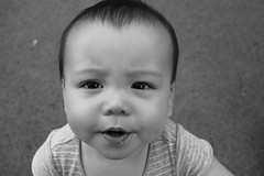 What did you say? (Bl.Mtns.Grandma) Tags: bw baby teeth eyes weeklythemes letteroftheday t two