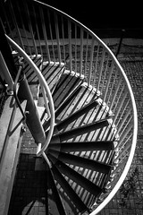 Spiral staircase, Greenland Dock (Winniepix) Tags: winniepix stair spiral step abstract twist circle stripe london up staircase