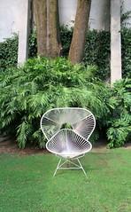 Es que me niego (Robert Saucier) Tags: mexico mexicocity cdmx coyoacan jardin garden arbres trees chaise chair vert green img8076