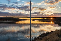 Northern Spire Sunset (robinta) Tags: bridge sunderland architecture sunset twilight river water structure sky clouds reflections silhouette canon 200d 1855isstm buildings england ngc