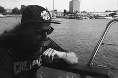 ROLL1-0002 (SaticonDreams) Tags: kodak gold 100 fishing boat water sea bay ocean melbourne nikon 50mm 1835 expired ls50 coolscan