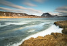 Frozen Inlet (Rachel Dunsdon) Tags: 2018 iceland inlet ice snow frozen mountain grass sky