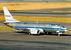 USair                                          Boeing 737                                     N349US (Flame1958) Tags: usair usairb737 boeing737 print bostonloganairport loganairport bos kbos bostonairport scan 1991 b737 737 boeing n349us