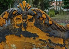 symbol (lowooley.) Tags: guisborough northeastengland cemetery gravestone bird skull symbol weathered stone
