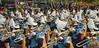 Swish! (BKHagar *Kim*) Tags: bkhagar mardigras neworleans nola la parade celebration people crowd beads outdoor street napoleon uptown band musicians musical trombones hats feathers swish