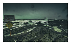 Stormy Skerries (balb_kubrox) Tags: sea storm rain drops clouds island warning dublin skerries rocks nikon d5500