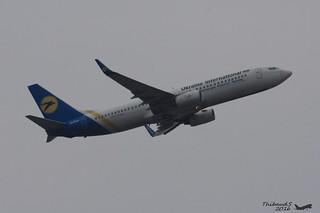 Boeing 737 -85R UKRAINE INTERNATIONAL AIRLINES UR-PSH 29040 Francfort février 2016