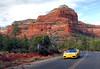 On the road Sedona. (Bernard Spragg) Tags: redrocks sedona yellowcar lumix usa arizona travel scenery