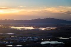 Puddles (joshhansenmillenium) Tags: nikon nikond5500 d5500 tamron tamron18200 sunset sunsets sunsetnerd saltlakecity salt lake city antelope island utah hiking great airplane cloudscape mountains