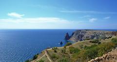 Fiolent cape (МирославСтаменов) Tags: crimea sevastopol fiolent cape rocks mediterranean seascape island cirrus horizon