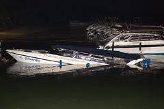 Bad day at Chalong pier, Phuket, Thailand     XOKA5178s (forum.linvoyage.com) Tags: sink boat speedboat night phuket chalong thailand pier water people accident phuketian engine sea ocean beach
