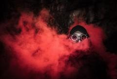 Steampunk Smoke Shoot (josht712) Tags: end survive gasmask red bomb smoke scary horror dark apocalyptic post 5d canon experimental dreamland conceptual steampunk