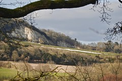 The Drift Remains (Deepgreen2009) Tags: drift snow remains hill chalk cliff betchworth spring weather northdowns view landscape