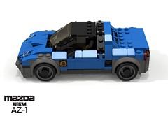 Mazda Autozam AZ-1 (1992) (lego911) Tags: mazda autozam az1 1992 1990s japan japanese midengine turbo micros kei sportscar auto car moc model miniland lego lego911 ldd render cad povray