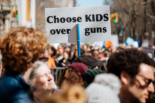 March For Our Lives, NYC sign: Choose kids over guns