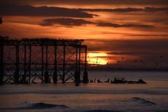 Brighton 20 March 2018 108 (paul_appleyard) Tags: brighton beach sussex march 2018 pier sunset evening dusk orange sky gulls west ruin abandoned crumbling