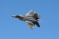 F-22 Raptor (linda m bell) Tags: losangelescounty airshow 2018 lancaster california foxairfield aircraft f22raptor military