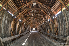 Blair Bridge Interior (DaveWilsonPhotography) Tags: hdr nxnw2017 bridge creativecommons newhampshire blairbridge nxnw architecture coveredbridge nh