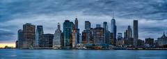 Sunset Blues on Manhattan (johnsdigitaldreams.com) Tags: sonyalpha 15stitchedimages nyc johnsdigitaldreamscom newyork sony a7rm2 bigapple johnchandler panorama unitedstates us