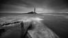 Me & Mary (ianbrodie1) Tags: stmarys island lighthouse whitleybay north tyneside east longexposure sea seascape coast coastline moody selfie ghostly sky cloud dark blackwhite mono water ocean