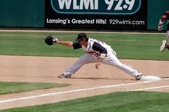 KC Hobson (joeldinda) Tags: lansing july ballyard 1292 ballpark michigan 2011 nikond300 d300 nikon appleton wisconsintimberrattlers baseball midwestleague lansinglugnuts