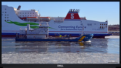 1 of 6 new for my album Working-,  Passenger and Fishing boats (5) (andantheandanthe) Tags: sea blue water sky boat connecting europe for sustainable future stena germanica ice coast guard kustbevakning vessel ship river götaälv göta älv gothenburg