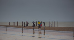 Getting soaking wet (prueheron) Tags: purple rain walk icm intentionalcameramovement promenade sea seaside ocan brighton sussex