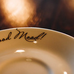 Close up of a plate with text. Good mood . thumbnail