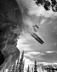 Air Thomas (Bill Devlin) Tags: ski skiing snow drop rock white grizzly extreme powder british columbia blackandwhite cat selkirks mountain