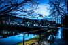 Dusk (Maria Eklind) Tags: bluehour street water spegling city dusk canal malmö sky twilight blue kanal reflection building södraförstadskanalen sweden streetsofmalmö skånelän sverige se