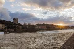 Firenze (Giuseppe Luigi Dipace) Tags: sunset florence firenze canon eos giuseppeluigidipace tuscany toscana italy travel touring tourism arno landscape