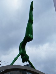 Manchester street art = First Street (rossendale2016) Tags: first shopping over athlete gymnast gym lady centre city replicating replica figure tall iconic artistic green slim high balancing athletic handstand art street manchester