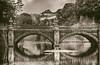 Imperial Palace in Tokyo, Japan (` Toshio ') Tags: toshio tokyo japan asia imperialpalace bridge japanese nihon nippon palace sepia bw water reflection fujixt2 xt2 chiyodaward edocastle