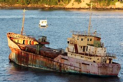 St. Vincent  = rusty old boat = ANNA (Kingstown) = a thousand views,   Thankyou (rossendale2016) Tags: resort destination holiday indies west sea ocean caribbean kingstown stvincent unloved unused corroded rusting abandoned harbour ship old rusty