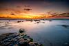 Palmachim Beach at Sunset III (stollman_ron) Tags: seascape travel nikon d600 sea sky clouds longexposure israel rocks