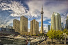 Toronto (wimvandemeerendonk, back home) Tags: canada toronto lakeontario sky skyscraper clouds cloud sony reflection panorama golddragon