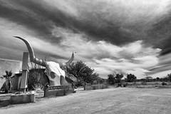 Unforgiven (pmkelly) Tags: arizona blackandwhite clouds desert skull sky