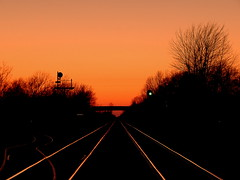 Tracks at Sunset at Brimfield Indiana (Matt Ditton) Tags: sunset brimfield indiana signal