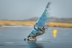 IJszeiler (Weitenberg.....) Tags: sailing ijs speed wind sketing schaatsen ijszeilen zeil ijssurfen surfen nikon d800 snelheid