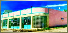 Best Buy...in the beginning! (Sherrianne100) Tags: vintage pink electronics outdated windows hww outofbusiness deserted abandoned tucumcari newmexico